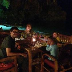 Cenando en Phra Nang