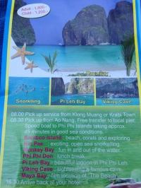 Folleto de la excursión a Phi Phi Island