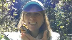 Disfrutando de las mariposas