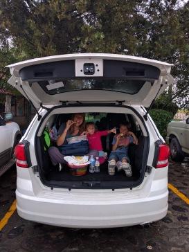 La tormenta fue tal que comimos en el coche